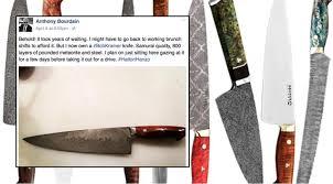 anthony bourdain on kitchen knives bob kramer knife anthony bourdain finally got his bob kramer knife