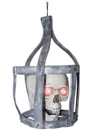 Talking Skeleton Halloween Decoration Sonic Skull In Cage