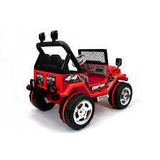 toy jeep for kids xtreme 12v ride on off road 4x4 two seater jeep in red xtreme toys