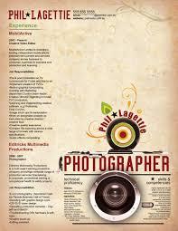 Photography Resume Sample by Photography Resume Portfolio Corpedo Com