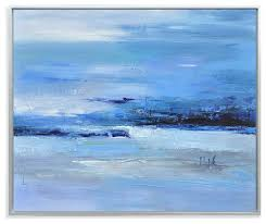 painted canvas calmness of blue style paintings