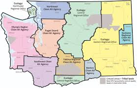 Wa State County Map by State Map Of Clean Air Agencies Ecology Jpg