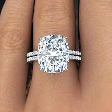 rectangle cushion cut engagement rings 2 60 ct rectangular cushion cut pave engagement