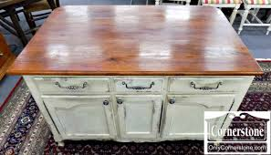 kitchen island price white paint distressed kitchen island with cherry colored top