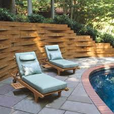 outdoor cushions piped extra thick teak chaise country casual
