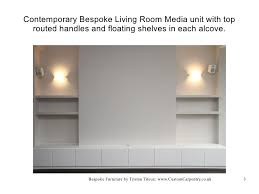 Bespoke Fitted Furniture By Custom Carpentry Design By Tristan Titeux - Contemporary fitted living room furniture