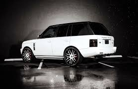 white land rover black rims customized range rover exclusive motoring miami fl