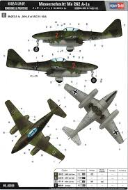 messerschmitt me 262a late color profile and paint guide