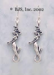 mermaid earrings mermaid earrings sterling silver jewelry