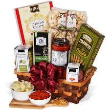 pasta basket table in tuscany italian gift basket by gourmetgiftbaskets