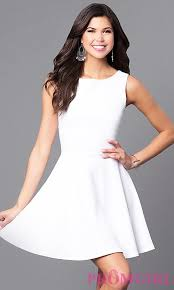 white party dresses cheap cut out white party dress promgirl