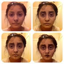 halloween makeup palette edward scissorhands makeup progression urban decay u0027s