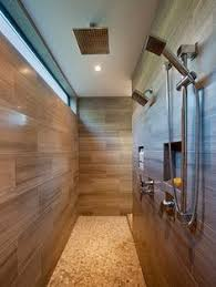 Shower Design Ideas Small Bathroom Design Indulgence High Gloss Subway Tile Next To Textured Tile