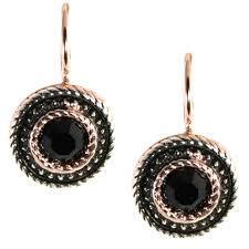 onyx earrings onyx gold drop earrings simply italian