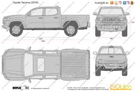 2014 toyota tacoma dimensions the blueprints com vector drawing toyota tacoma cab