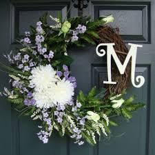 wreath for front door best monogrammed front door wreath products on wanelo