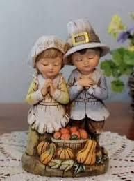 thanksgiving pilgrim statues pilgrim children thankful statue 6 inch figurine thanksgiving
