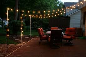 Patio Lights Support Poles For Patio Lights Made From Rebar And Electrical