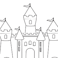 coloring surprising easy draw castle maxresdefault