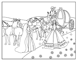 kids pages cinderella coloring 4