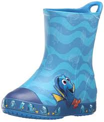 crocs light up boots amazon com crocs bump it findingdory rain boot little kid