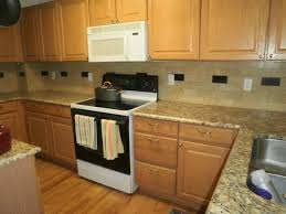 Kitchen Design Oak Cabinets by Light Oak Cabinets With Backsplashes Installations A