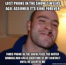Lost Phone Meme - lost phone in the snow 2 weeks ago assumed it s gone forever finds