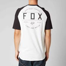 fox motocross t shirts racing counterpart ss tee mens vintage white cotton baseball t