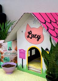 diy cardboard cat house happiness is homemade