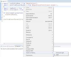 eclipse theme switcher theme grammar association via preferences menu requires reload of