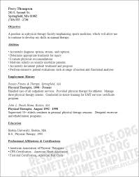 physical therapist resume template kevin keinert s integrated circuit parts for physical therapist