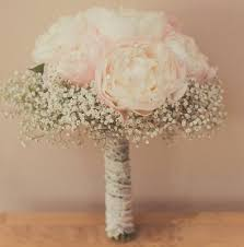 baby s breath bouquets peonies and baby s breath bridal bouquet in caldwell id