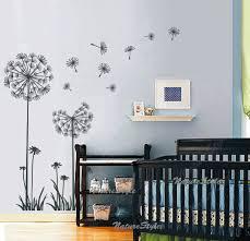 autocollant chambre fille pissenlits mur stickers chambre denfant mur autocollant bébé