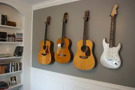 How To Hang A Canvas Remarkable Decoration How To Hang A Guitar On The Wall Amazing