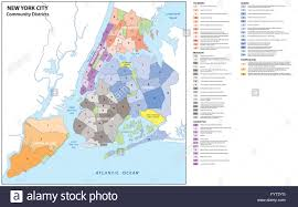Map Of Long Island New York by Administrative Map Of New York City Boroughs Districts Stock