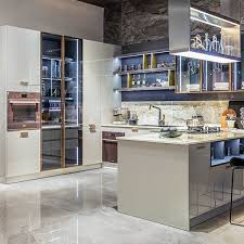 lacquered glass kitchen cabinets item grey modern design lacquer kitchen cabinet with glass door