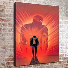 2017 no frame spider man hd canvas print wall art oil painting