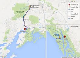 denali national park map alaska tour alaska vacation glacier bay denali national parks