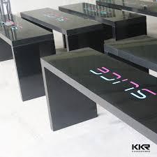 Narrow Bar Table Solid Surface Bar Counter Kingkonree Solid Surface