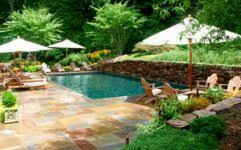 small backyard landscaping ideas with nice rock decoration and