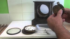 french slate 8 day mantle clock part one youtube