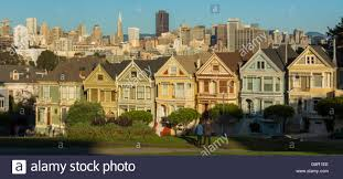 san francisco california painted ladies victorian homes and city