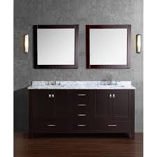 Bathroom With Two Vanities Bathroom Double Square Sink Vanity With Double Sink Top Also