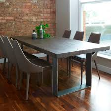 Modena Distressed Wood  Metal Dining Table - Metal dining room tables