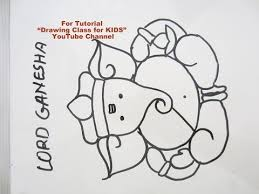 how to draw easy cute lord ganesha ganpati step by step tutorial