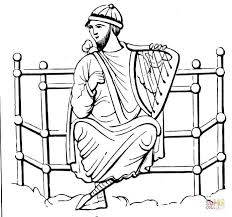 harp coloring page bible king coloring pages getcoloringpages com