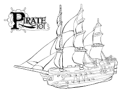 pirate ship coloring page coloring pages online