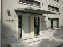 Entrance Awning Entrance Canopy Fabric Steel Sintesi Air Con Cavi Frama Action