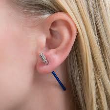 jacket earrings wars luke skywalker lightsaber ear jacket earrings thinkgeek