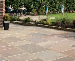 indian sandstone paving buff multi garden pinterest